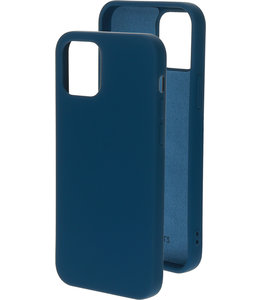 Mobiparts Mobiparts Silicone Cover Apple iPhone 12/12 Pro Blueberry Blue