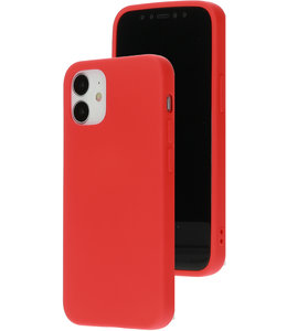 Mobiparts Mobiparts Silicone Cover Apple iPhone 12 Mini Scarlet Red