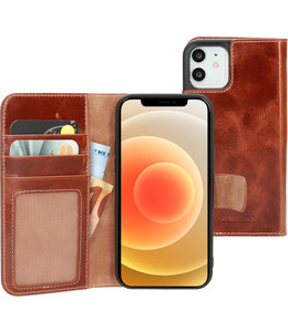 Mobiparts Mobiparts Excellent Wallet Case 2.0 Apple iPhone 12/12 Pro Oaked Cognac