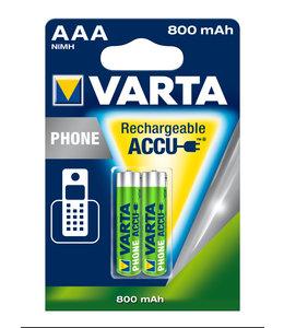 Varta Varta Rechargeable Battery AAA 800 mAh (2-pack)