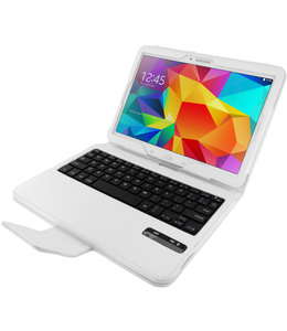Mobiparts Mobiparts Bluetooth Keyboard Case Galaxy Tab 4 10.1 White