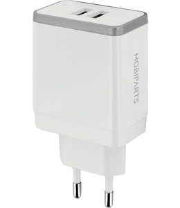 Mobiparts Mobiparts Wall Charger Dual USB 4.8A White