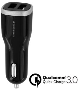 Mobiparts Mobiparts Quick Charge Car Charger Dual USB 5A Black