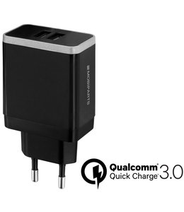 Mobiparts Mobiparts Quick Charge Wall Charger Dual USB 4.6A Black