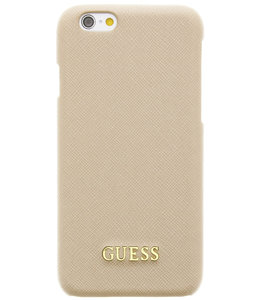 Guess Guess Saffiano Backcover Case Apple iPhone 6/6S Beige GUHCP6TBE