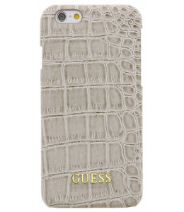 Guess Guess Croco Backcover Case Apple iPhone 6/6S Shiny Beige GUHCP6SCOBE