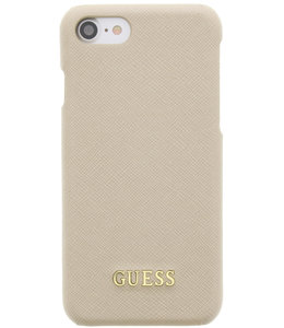 Guess Guess Saffiano Backcover Case Apple iPhone 6/6S/7/8/SE (2020) Beige GUHCP7TBE
