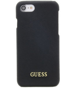Guess Guess Saffiano Backcover Case Apple iPhone 6/6S/7/8/SE (2020) Black GUHCP7TBK