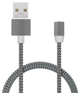 Mobiparts Mobiparts Magnetic USB Cable (without connector) 1.5A Dark Grey 1M