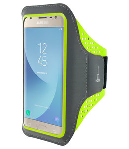 Mobiparts Mobiparts Comfort Fit Sport Armband Samsung Galaxy J3 (2017) Neon Green