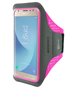 Mobiparts Mobiparts Comfort Fit Sport Armband Samsung Galaxy J3 (2017) Neon Pink