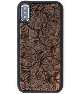 Reveal Reveal Floresta Wood Engraved Case Apple iPhone X/XS