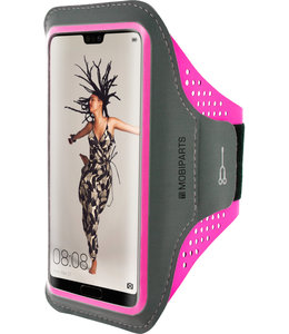 Mobiparts Mobiparts Comfort Fit Sport Armband Huawei P20 Neon Pink