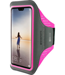 Mobiparts Mobiparts Comfort Fit Sport Armband Huawei P20 Lite Neon Pink