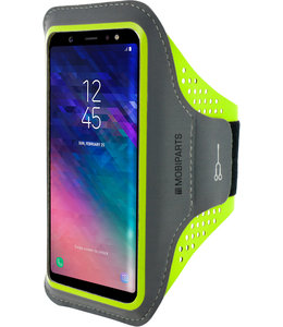 Mobiparts Mobiparts Comfort Fit Sport Armband Samsung Galaxy A6 Plus (2018) Neon Green