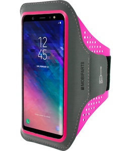 Mobiparts Mobiparts Comfort Fit Sport Armband Samsung Galaxy A6 Plus (2018) Neon Pink