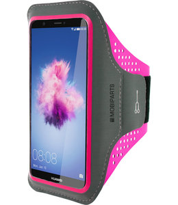 Mobiparts Mobiparts Comfort Fit Sport Armband Huawei P Smart Neon Pink