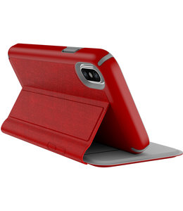 Speck Speck Presidio Folio Apple iPhone X/XS Heathered Heartrate Red