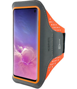 Mobiparts Mobiparts Comfort Fit Sport Armband Samsung Galaxy S10 Neon Orange