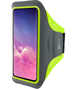 Mobiparts Mobiparts Comfort Fit Sport Armband Samsung Galaxy S10e Neon Green