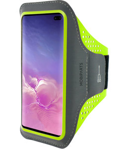 Mobiparts Mobiparts Comfort Fit Sport Armband Samsung Galaxy S10 Plus Neon Green