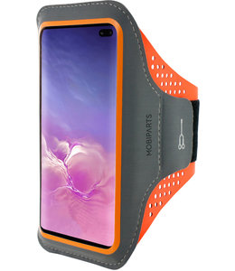 Mobiparts Mobiparts Comfort Fit Sport Armband Samsung Galaxy S10 Plus Neon Orange