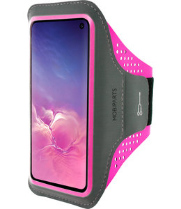 Mobiparts Mobiparts Comfort Fit Sport Armband Samsung Galaxy S10e Neon Pink