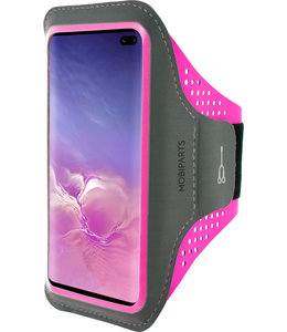 Mobiparts Mobiparts Comfort Fit Sport Armband Samsung Galaxy S10 Plus Neon Pink
