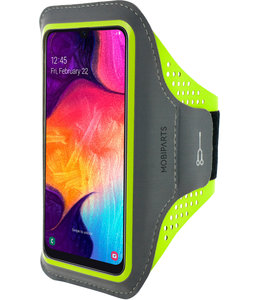 Mobiparts Mobiparts Comfort Fit Sport Armband Samsung Galaxy A40 (2019) Neon Green