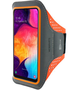 Mobiparts Mobiparts Comfort Fit Sport Armband Samsung Galaxy A40 (2019) Neon Orange