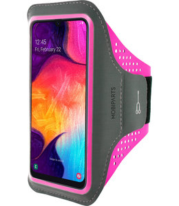 Mobiparts Mobiparts Comfort Fit Sport Armband Samsung Galaxy A50/A30S Neon Pink