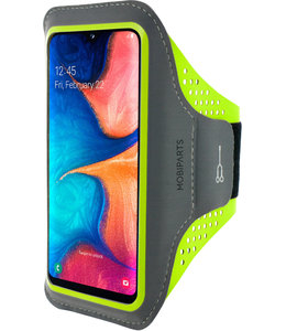 Mobiparts Mobiparts Comfort Fit Sport Armband Samsung Galaxy A20e (2019) Neon Green