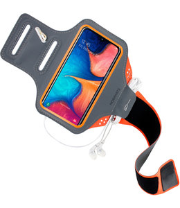 Mobiparts Mobiparts Comfort Fit Sport Armband Samsung Galaxy A20e (2019) Neon Orange