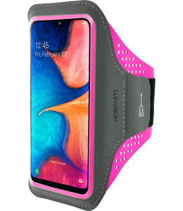 Mobiparts Mobiparts Comfort Fit Sport Armband Samsung Galaxy A20e (2019) Neon Pink