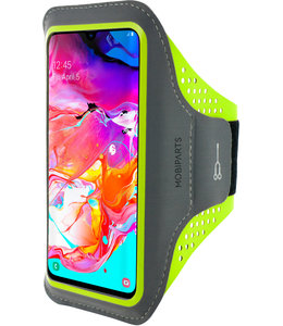 Mobiparts Mobiparts Comfort Fit Sport Armband Samsung Galaxy A70 (2019) Neon Green