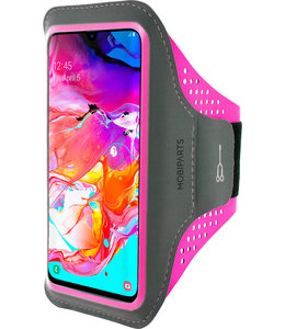 Mobiparts Mobiparts Comfort Fit Sport Armband Samsung Galaxy A70 (2019) Neon Pink