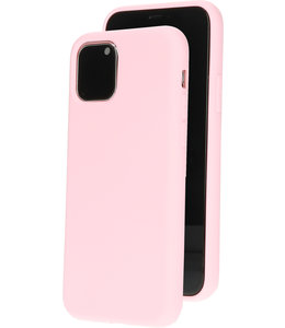 Mobiparts Mobiparts Silicone Cover Apple iPhone 11 Pro Blossom Pink