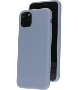 Mobiparts Mobiparts Silicone Cover Apple iPhone 11 Pro Max Royal Grey