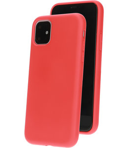 Mobiparts Mobiparts Silicone Cover Apple iPhone 11 Scarlet Red