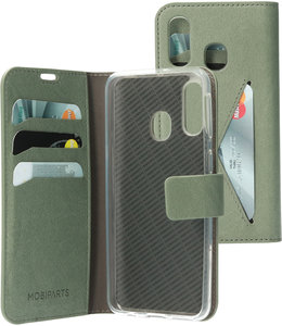 Mobiparts Mobiparts Classic Wallet Case Samsung Galaxy A40 Stone Green