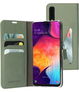 Mobiparts Mobiparts Classic Wallet Case Samsung Galaxy A50/A30S Stone Green