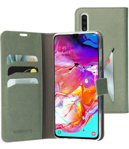 Mobiparts Mobiparts Classic Wallet Case Samsung Galaxy A70 Stone Green