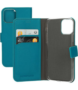 Mobiparts Mobiparts Saffiano Wallet Case Apple iPhone 11 Pro Turquoise