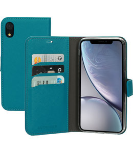 Mobiparts Mobiparts Saffiano Wallet Case Apple iPhone XR Turquoise