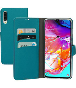 Mobiparts Mobiparts Saffiano Wallet Case Samsung Galaxy A70 Turquoise