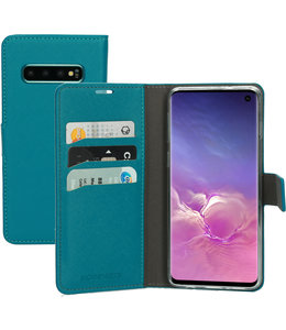 Mobiparts Mobiparts Saffiano Wallet Case Samsung Galaxy S10 Turquoise
