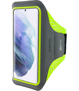 Mobiparts Mobiparts Comfort Fit Sport Armband Samsung Galaxy S21 Neon Green
