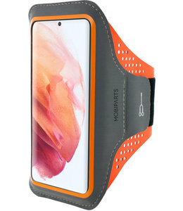 Mobiparts Mobiparts Comfort Fit Sport Armband Samsung Galaxy S21 Neon Orange