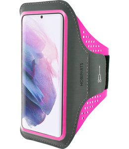 Mobiparts Mobiparts Comfort Fit Sport Armband Samsung Galaxy S21 Neon Pink