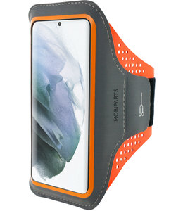 Mobiparts Mobiparts Comfort Fit Sport Armband Samsung Galaxy S21 Plus Neon Orange
